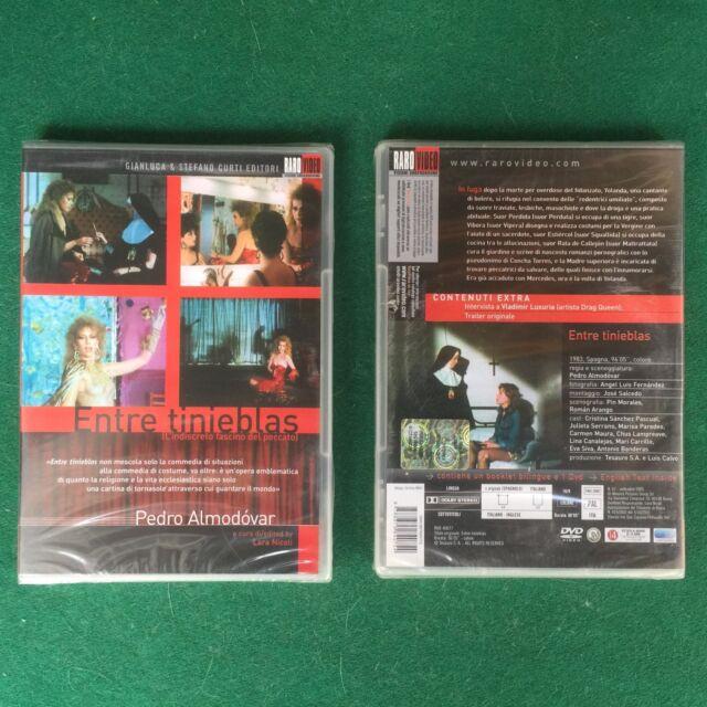 (1 DVD + 1 BOOKLET) Pedro ALMODOVAR - ENTRE TINIEBLAS PECCATO (1983) Raro Video
