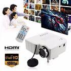 Mini HD 1080P LED Projektor VGA AV USB PC SD HDMI Heimkino Beamer Projektion