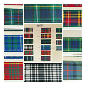 Berisfords-Scottish-Approved-Tartan-Ribbon-25-40-70-MM-Widths-Sewing-Crafts