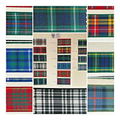 MENZIES 7 10 16 25 40 /& 70mm Berisfords Tartan ribbon Scottish Approved Design