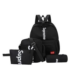 Neu Supreme Rucksack Umhängetasche Taschen Taschen Unisex Laptop Schulranzen