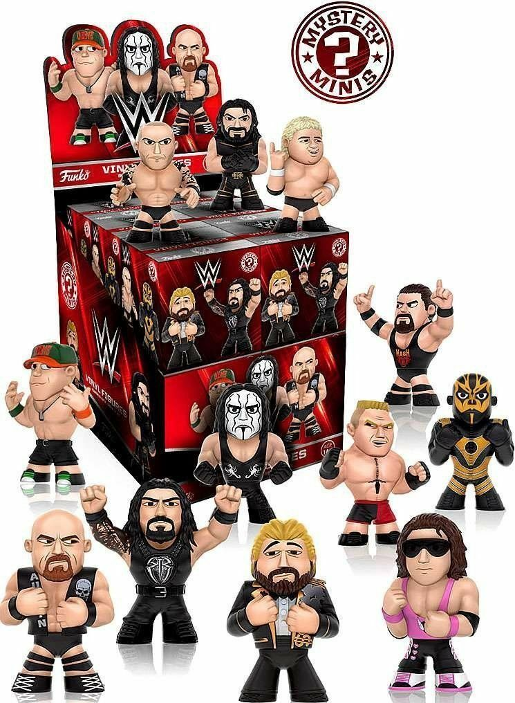 WWE Mystery Minis Series 2 Mini-Figures box of 12 sealed box never opened uk