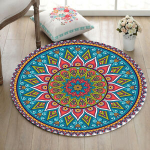 indian mandala hippie home bedroom zen carpet non slip bath rug