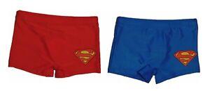 Superman-Badehose-Badeshort-Kinder-Jungen-Blau-und-Rot-NEU