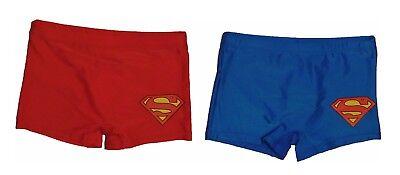 Superman Badehose Badeshort Kinder Jungen Blau Und Rot Neu