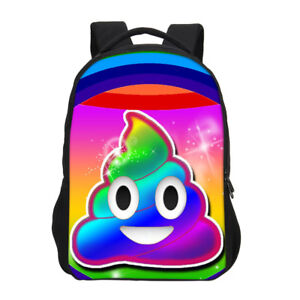 Details about Poop Emoji Girls Bookbag Kids