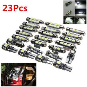 23pc-LED-White-Car-Interior-Light-Bulb-Map-Dome-Trunk-License-Plate-Lamps-Kit