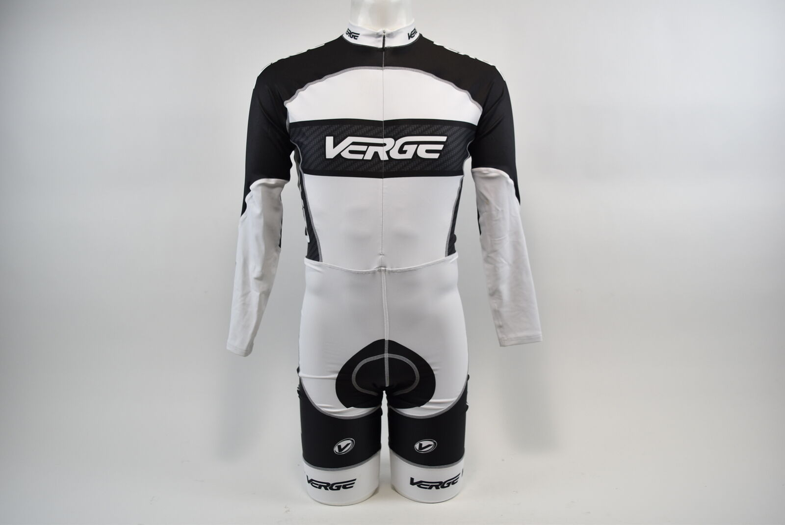 Brand New Verge Men's Primo Euro LS Cycling Skinsuit, 2XL, biancaCarbon