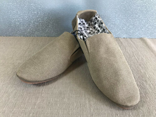 BNWT Boys Sz 3 Rivers Light Brown Slip On Style Canvas Casual Shoes