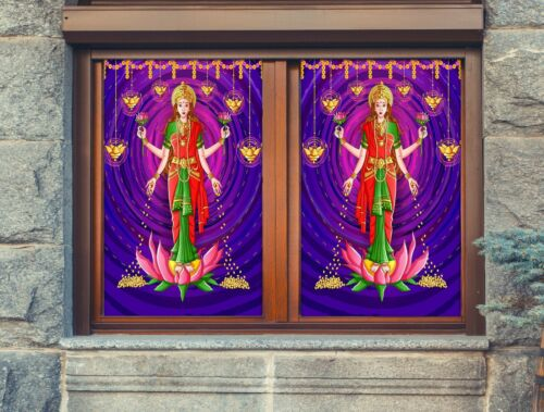 Details about  /3D Bodhisattva O728 Window Film Print Sticker Cling Stained Glass UV Block Am