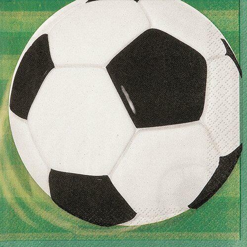 NEUF pack de 16 Football Déjeuner Serviettes