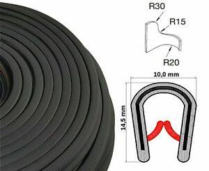 KS1-4S-1-60-m-Klemmprofil-Profil-Bleche-schwarz-U-Profil-Kantenschutzband