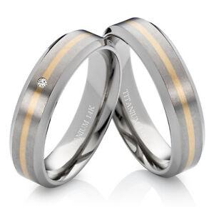 Eheringe-Trauringe-Verlobungsringe-Partnerringe-mit-Diamant-Titan-und-Gold-TG172