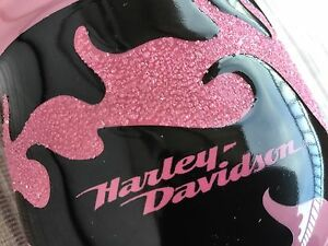Brand New Harley Davidson Authentic Pink Black Flame Ceramic Coffee Cup Mug