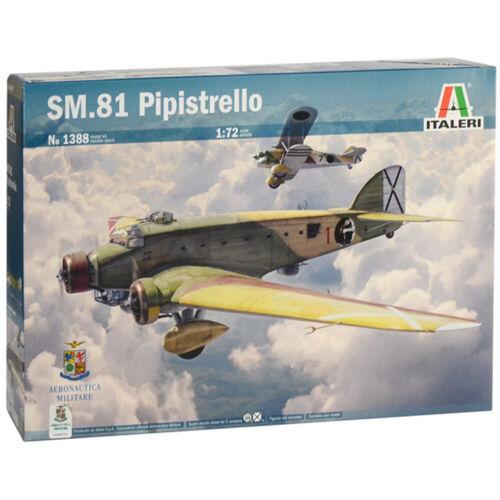 Italeri Savoia Marchetti SM.81 Pipistrello Plane Model Kit 1388 Scale 1:72