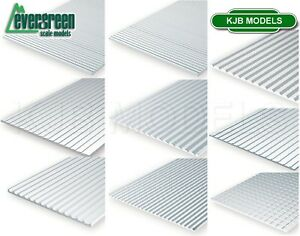 Evergreen-Scale-Models-Styrene-Textured-Sheets-Plastic-Cladding-Roof-Clapboard