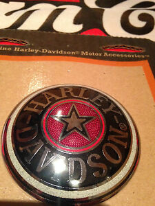 Harley-softail-dyna-sportster-road-king-H-D-gas-fuel-tank-cap-cover-medallion