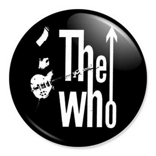 """The Who Logo 25mm 1"""" Pin Badge Button Retro Punk Rock New Wave Band Mod"""