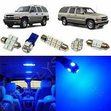 15x Blue LED lights interior package kit for 2000-2006 Chevy Suburban/Tahoe CS1B