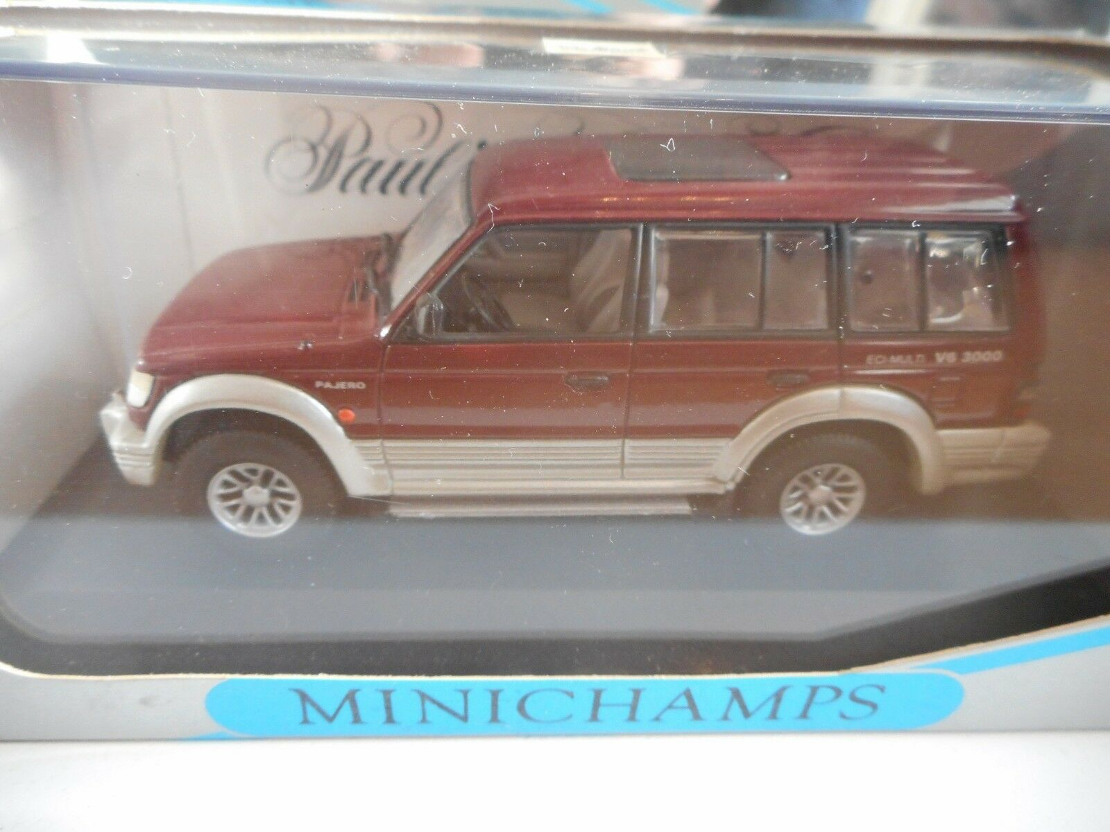 Minichamps Minichamps Minichamps Mitsubishi Pajero LWB in Dark Red on 1 43 in Box 326771