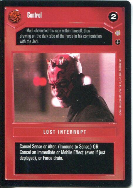 Star Wars CCG Coruscant Uncommon Control Dark Side