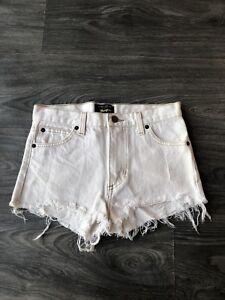 e17c18ab Marc Jacobs Wrangler Women's Denim Mini Shorts Ivory White Wash Size ...
