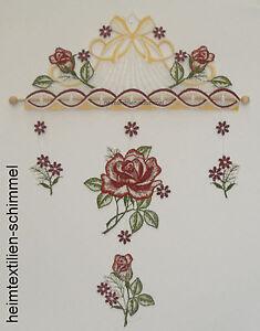 PerséVéRant Plauener Dentelle ® Carillon Roses Rouges Fensterbild été Décoration Fensterdeko-afficher Le Titre D'origine Bon Pour L'éNergie Et La Rate