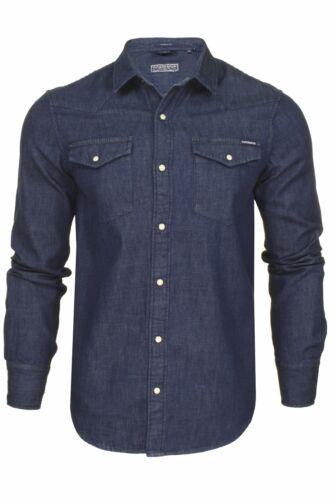 Long Sleeved Superdry Mens Denim Shirt Resurrection Shirt