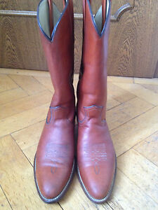 FRYE Cowboy Western Stiefel Boots Leder braun US 12 EUR 45/46 UK 11