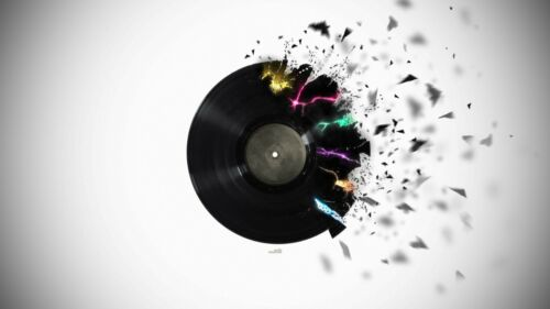 Abstract Record Breaking Music Poster A4 A3 A2 A1 Gift Present OC0012