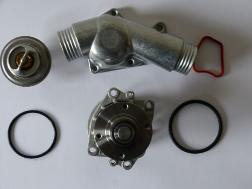 ALU-brida de e36 e34 con motor m50 y m52 Bomba de agua de Febi termostato 88