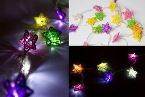 lot-of-2x-9ft-Christmas-DECORATION-LED-LIGHT-Star-SHAPE-Rainbow-Color