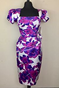NEW-Vintage-BB-Collections-Floral-Dress-Size-10