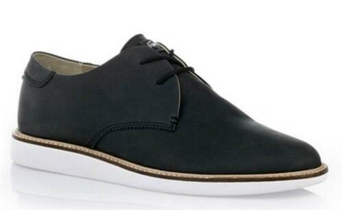 YY BNIB LACOSTE Orford Suede Shoe RRP£110 UK 10 10.5 11.5 12 Black Lace Up Mens