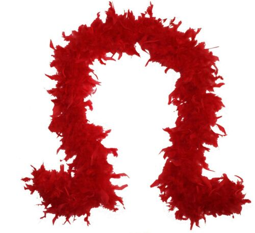 RED 2 Yards Boas Party//Costume//Shawl//Craft 65 Gram CHANDELLE FEATHER BOA