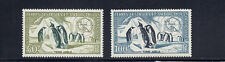 FRENCH ANTARCTICA FSAT 1956 EMPEROR PENGUINS (Scott C1-C2) VF MNH