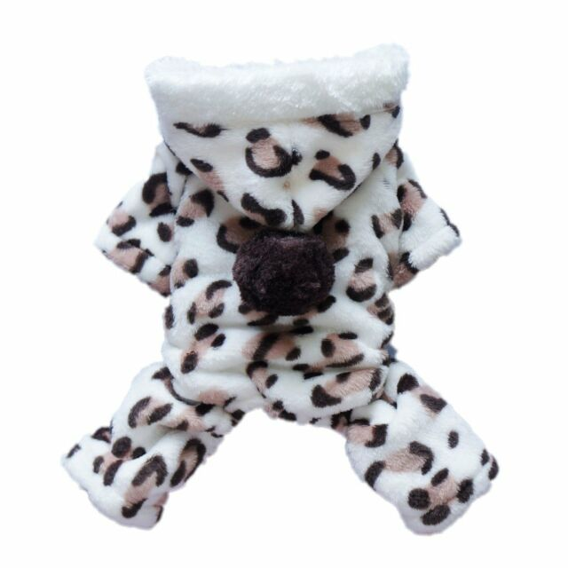 Adorable Leopard Dog Hoodie Coat Soft Cozy Pet Clothes Costumes
