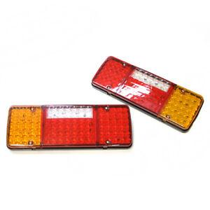 2x-24v-98-LED-Trasero-Luces-luz-para-TRANSPORTER-Camion-Chasis-de-Remolque