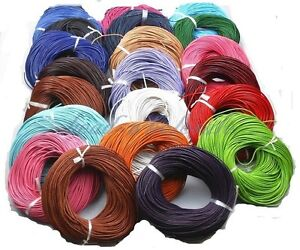10-100M-Real-Leather-Cord-Necklace-Charms-Rope-String-1-0-1-5-2-0-2-5-3-0-5-0mm