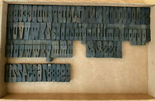 18 Line French Clarendon Letterpress Wood Type 3 Inch Uppercase Amp Lowercase