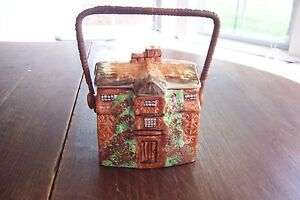 Vintage-Arthur-Wood-Cottage-Biscuit-Barrel-Morton-Old-Hall-Made-In-England