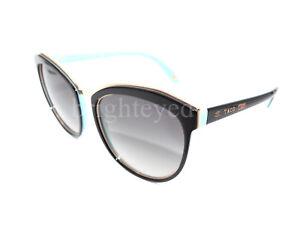 Autêntico Tiffany   Co. Óculos de sol olho gato preto 4146 Tf ... 71ad5bd1fc