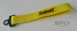 Sabelt Racing Yellow Tailgate Pull Strap CCAC0046 Boot Door Fiat Abarth