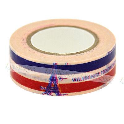 1X Paris Eiffel Tower Decor Washi Tape For DIY Craft Making Sticker Collection