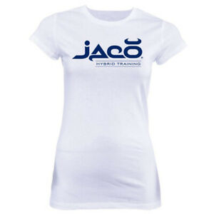 Jaco-Women-039-s-HT-Crew-Neck-T-Shirt-Large-White-Cobalt