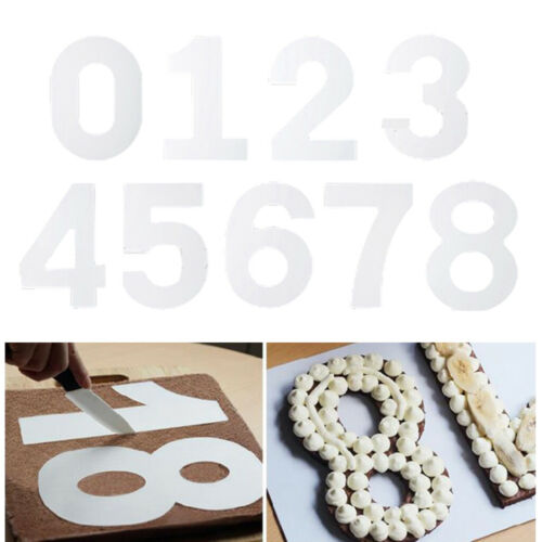 Details about  /Plastic Number 0 1 2 3 4 5 6 7 8 9 Cake Tin Mould for Birthday Wedding