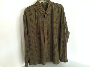 Knights-Sportswear-Mens-XL-Green-Check-Long-Sleeve-Shirt