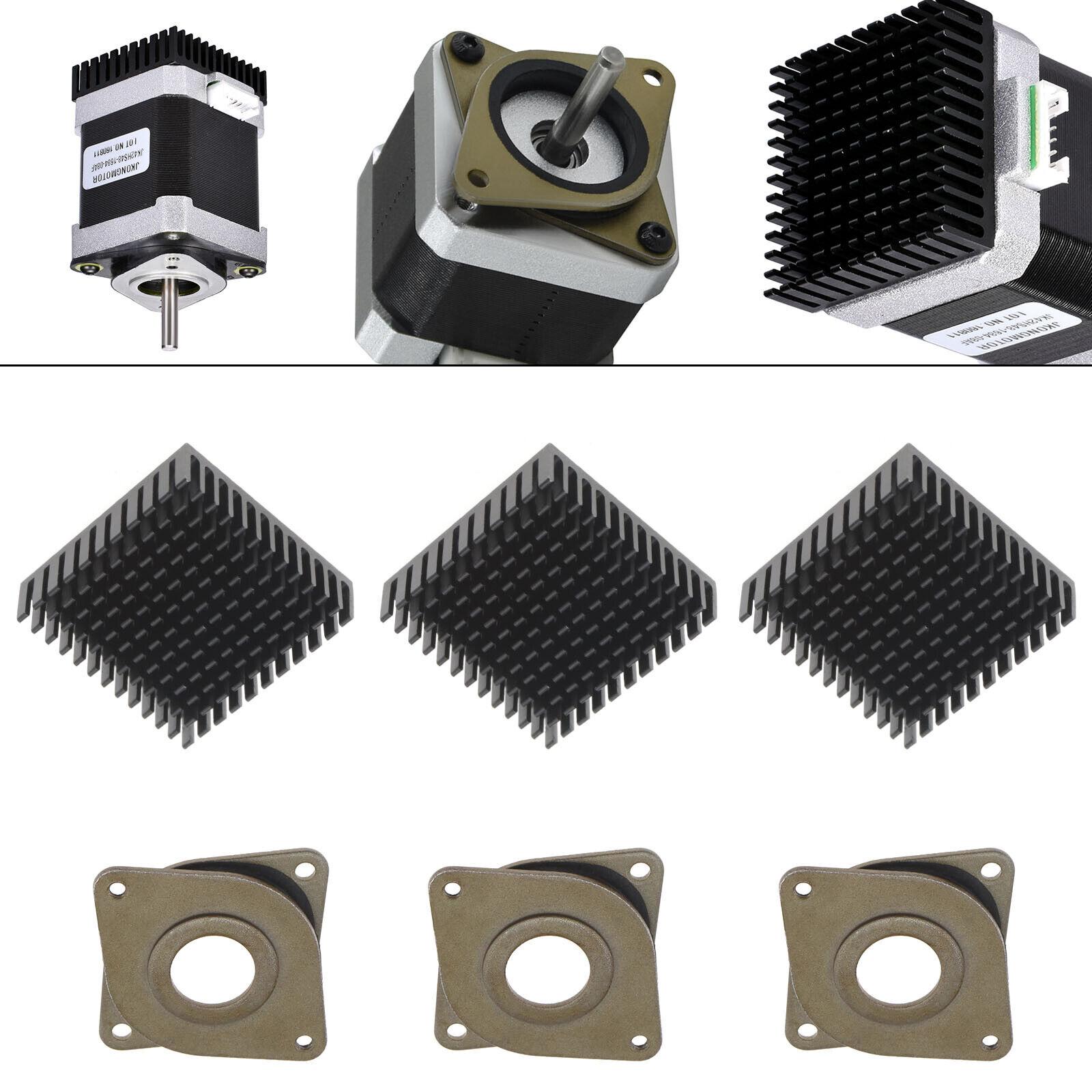 3Pcs Vibration Damper Heatsink for Nema17 3D Printer Repairing Replacement