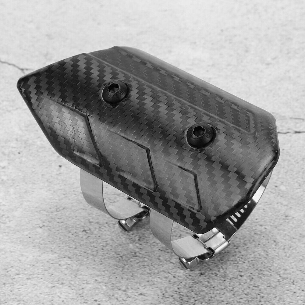 Exhaust Heat Guard Cover Dry Carbon Fiber Exhaust Mid‑Pipe Universal Heat Kit
