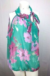 Sweet-Pea-for-New-York-amp-Company-by-Stacy-Frati-Floral-Blouse-Top-Size-XL-NWT